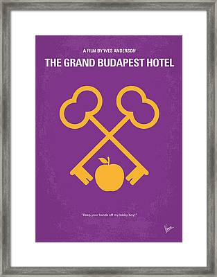 No347 My The Grand Budapest Hotel Minimal Movie Poster Framed Print by Chungkong Art