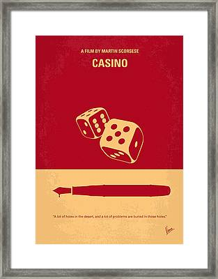 No348 My Casino Minimal Movie Poster Framed Print by Chungkong Art