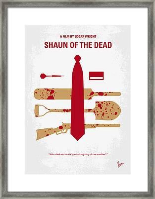 No349 My Shaun Of The Dead Minimal Movie Poster Framed Print