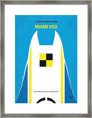 No351 My Miami Vice Minimal Movie Poster Framed Print