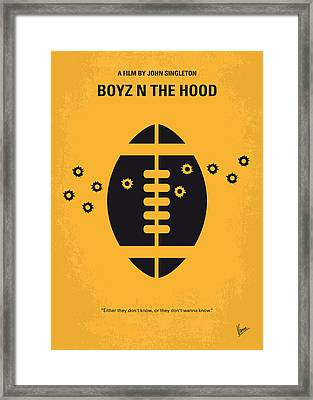 No352 My Boyz N The Hood Minimal Movie Poster Framed Print by Chungkong Art