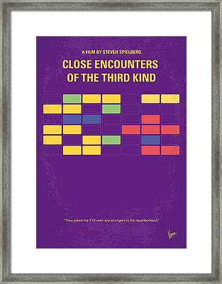 No353 My Encounters Of The Third Kind Minimal Movie Poster Framed Print by Chungkong Art