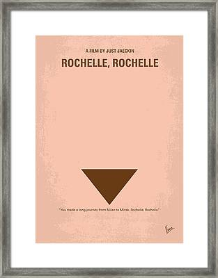 No354 My Rochelle Rochelle Minimal Movie Poster Framed Print