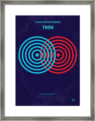 No357 My Tron Minimal Movie Poster Framed Print