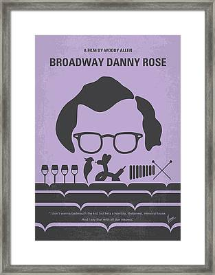 No363 My Broadway Danny Rose Minimal Movie Poster Framed Print by Chungkong Art