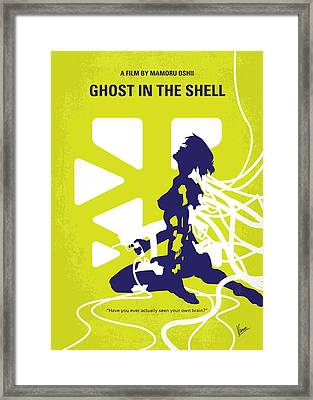 No366 My Ghost In The Shell Minimal Movie Poster Framed Print