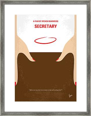 No371 My Secretary Minimal Movie Poster Framed Print
