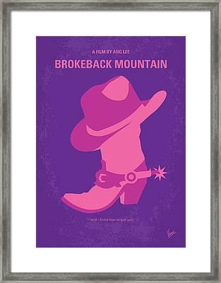 No369 My Brokeback Mountain Minimal Movie Poster Framed Print by Chungkong Art