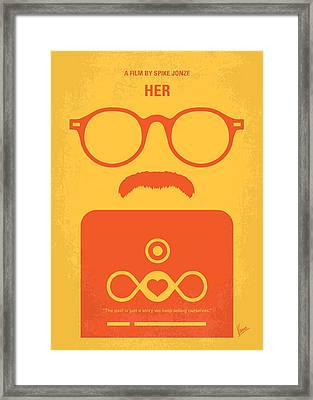 No372 My Her Minimal Movie Poster Framed Print by Chungkong Art