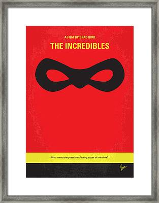 No368 My Incredibles Minimal Movie Poster Framed Print