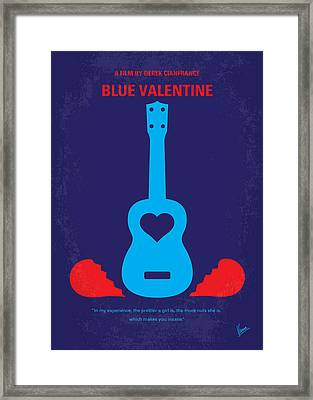 No379 My Blue Valentine Minimal Movie Poster Framed Print by Chungkong Art