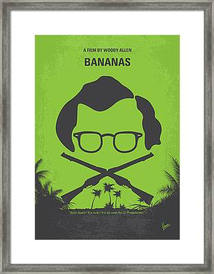 No375 My Bananas Minimal Movie Poster Framed Print by Chungkong Art