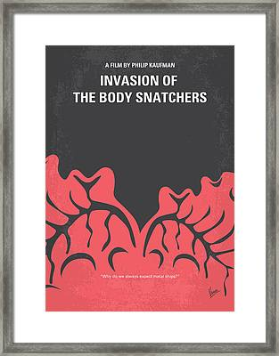 No374 My Invasion Of The Body Snatchers Minimal Movie Framed Print by Chungkong Art