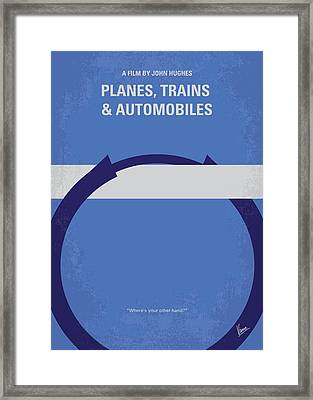 No376 My Planes Trains And Automobiles Minimal Movie Poster Framed Print by Chungkong Art