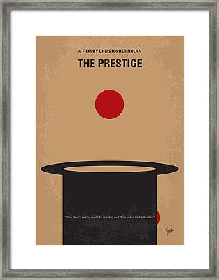 No381 My The Prestige Minimal Movie Poster Framed Print
