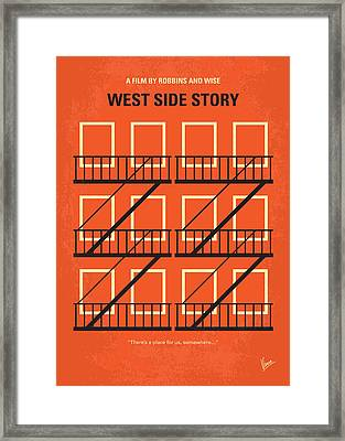 No387 My West Side Story Minimal Movie Poster Framed Print by Chungkong Art