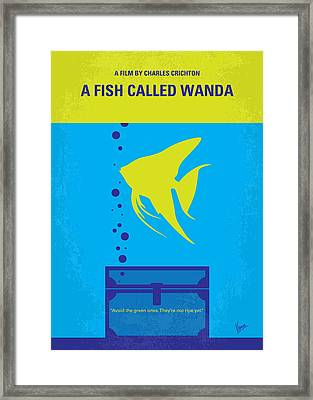 No389 My A Fish Called Wanda Minimal Movie Poster Framed Print by Chungkong Art