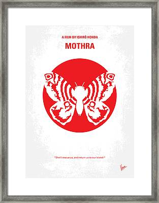 No391 My Mothra Minimal Movie Poster Framed Print