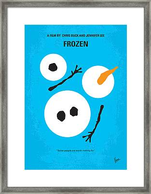 No396 My Frozen Minimal Movie Poster Framed Print