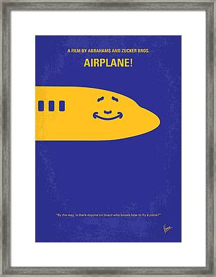 No392 My Airplane Minimal Movie Poster Framed Print