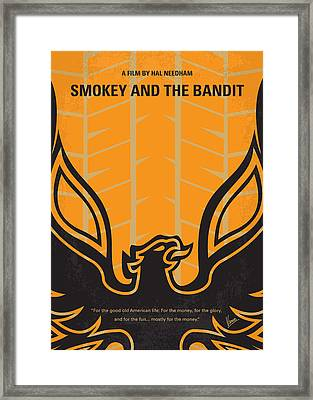 No398 My Smokey And The Bandits Minimal Movie Poster Framed Print