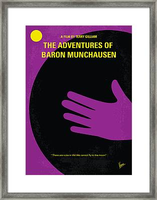 No399 My Baron Von Munchhausen Minimal Movie Poster Framed Print by Chungkong Art