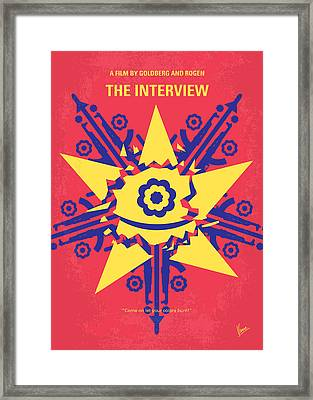 No400 My The Interview Minimal Movie Poster Framed Print by Chungkong Art