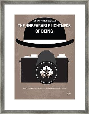 No401 My The Unbearable Lightness Of Being Minimal Movie Poster Framed Print by Chungkong Art