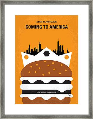 No402 My Coming To America Minimal Movie Poster Framed Print by Chungkong Art