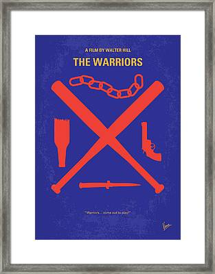 No403 My The Warriors Minimal Movie Poster Framed Print by Chungkong Art