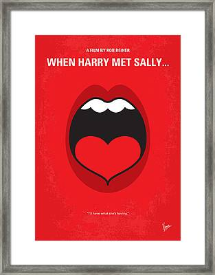 No405 My When Harry Met Sally Minimal Movie Poster Framed Print
