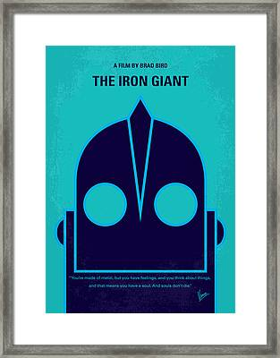 No406 My The Iron Giant Minimal Movie Poster Framed Print by Chungkong Art