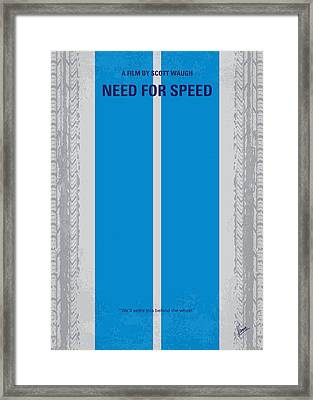 No407 My Need For Speed Minimal Movie Poster Framed Print by Chungkong Art