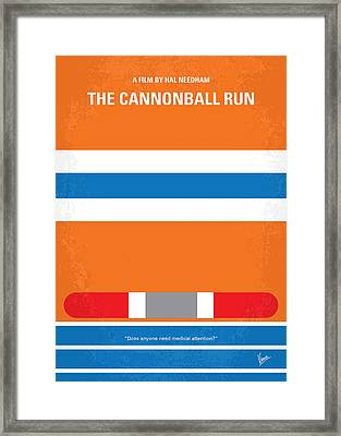 No411 My The Cannonball Run Minimal Movie Poster Framed Print by Chungkong Art