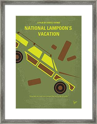 No412 My National Lampoons Vacation Minimal Movie Poster Framed Print by Chungkong Art