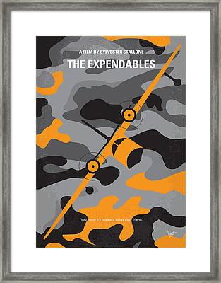 No413 My The Expendables Minimal Movie Poster Framed Print
