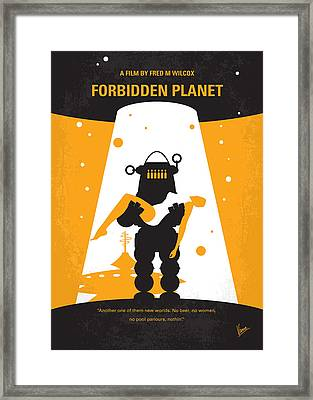 No415 My Forbidden Planet Minimal Movie Poster Framed Print
