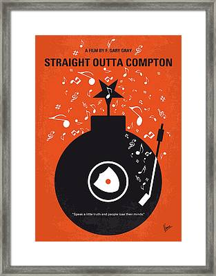No422 My Straight Outta Compton Minimal Movie Poster Framed Print