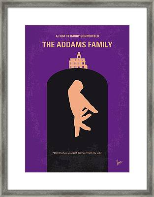No423 My The Addams Family Minimal Movie Poster Framed Print