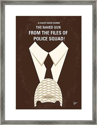 No432 My The Naked Gun Minimal Movie Poster Framed Print by Chungkong Art