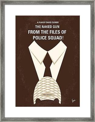 No432 My The Naked Gun Minimal Movie Poster Framed Print
