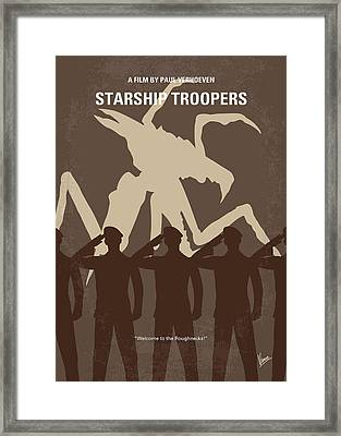 No424 My Starship Troopers Minimal Movie Poster Framed Print
