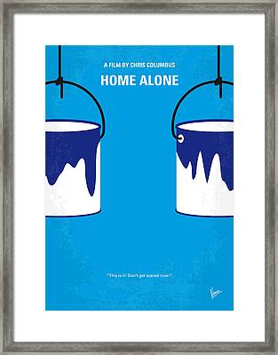 No427 My Home Alone Minimal Movie Poster Framed Print