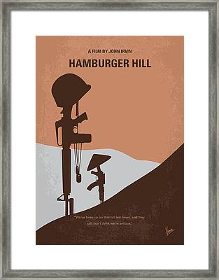No428 My Hamburger Hill Minimal Movie Poster Framed Print by Chungkong Art