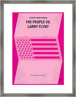 No395 My The People Vs Larry Flint Minimal Movie Poster Framed Print