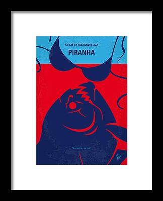 Piranha Framed Prints