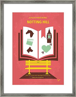 No434 My Notting Hill Minimal Movie Poster Framed Print by Chungkong Art