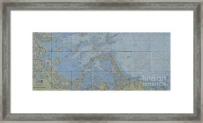 Noaa Chart Of Boston Harbor  Framed Print