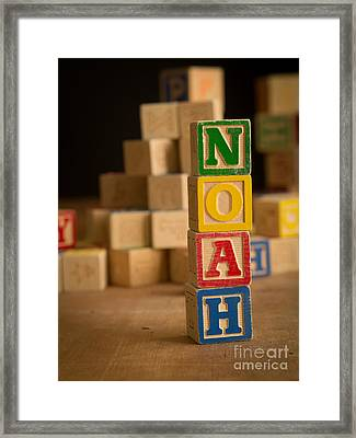 Noah - Alphabet Blocks Framed Print by Edward Fielding