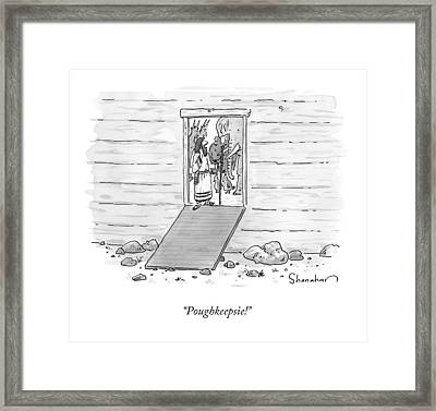 Noah At The Door Of His Arc Framed Print by Danny Shanahan